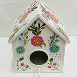 Birdhouse Metal White/Bright Floral
