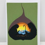 Bodhi Leaf Nativity Card