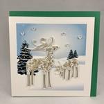 Quilling Card Quilling Car Snowy Reindeer, Vietnam