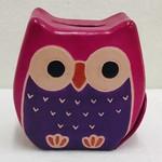 Chubby Owl Money Bank (Pink)