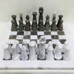 Fossil Stone 32 piece Chess Set