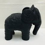Midnight Black Elephant Bank
