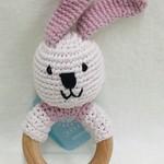 Pebble Pink Bunny Teething Ring