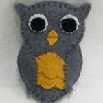 Owl Felt Finger Puppet
