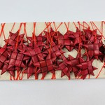 Red and Gold Palm Star Garland
