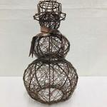 Mira Fair Trade Copper Wire Snowman Small, India