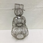 Mira Fair Trade Silver Wire Snowman Large, India