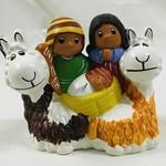 Lucuma Llama Ceramic Nativity, Peru