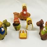 Medium Ceramic Nativity with Camels