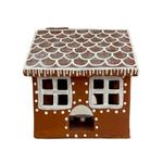 Terra Cotta Gingerbread House Candle Holder (LRG)