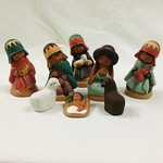 Small Ceramic Nativity with Two Animals