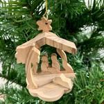 Olivewood Nativity Ornament