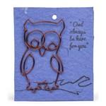 Wire Owl Gift Bookmark, Kenya