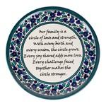Ten Thousand Villages Family Circle Plate, Palestine