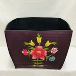 Purple Square Recycled Tire Planter
