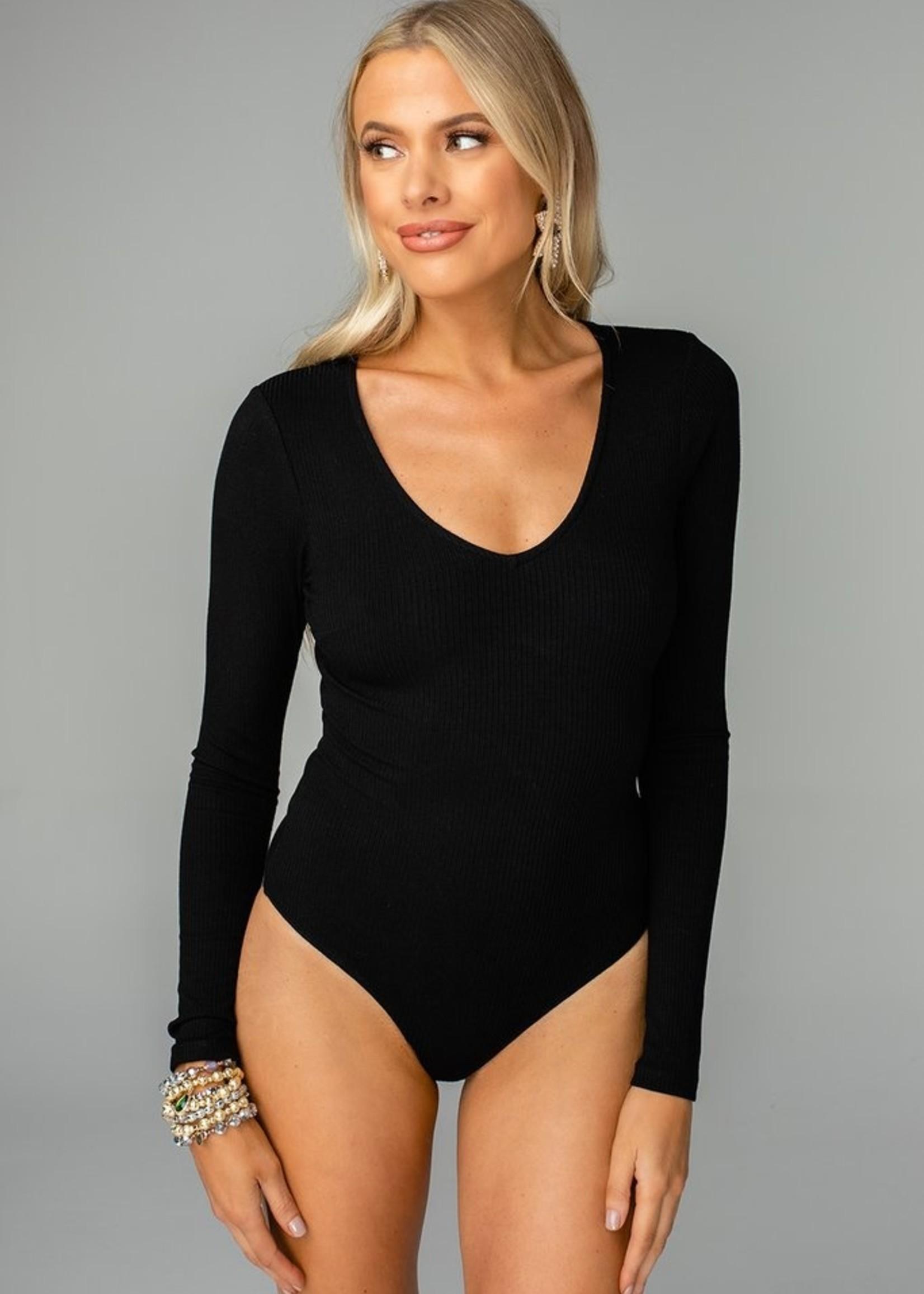 Buddy Love Patti Black Bodysuit