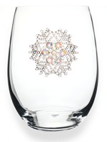 The Queen's Jewels Snowflake Stemless Wine glass