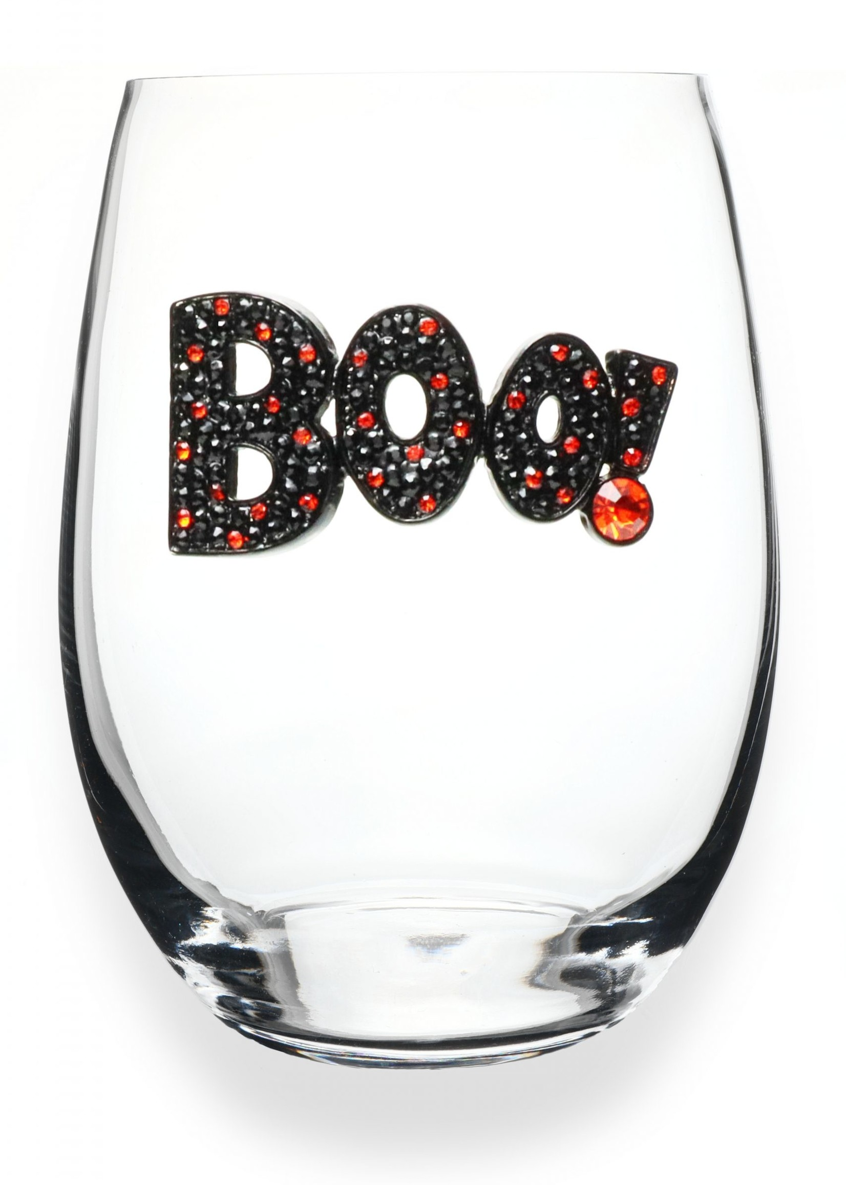 The Queen's Jewels Boo Stemless Wine Glass