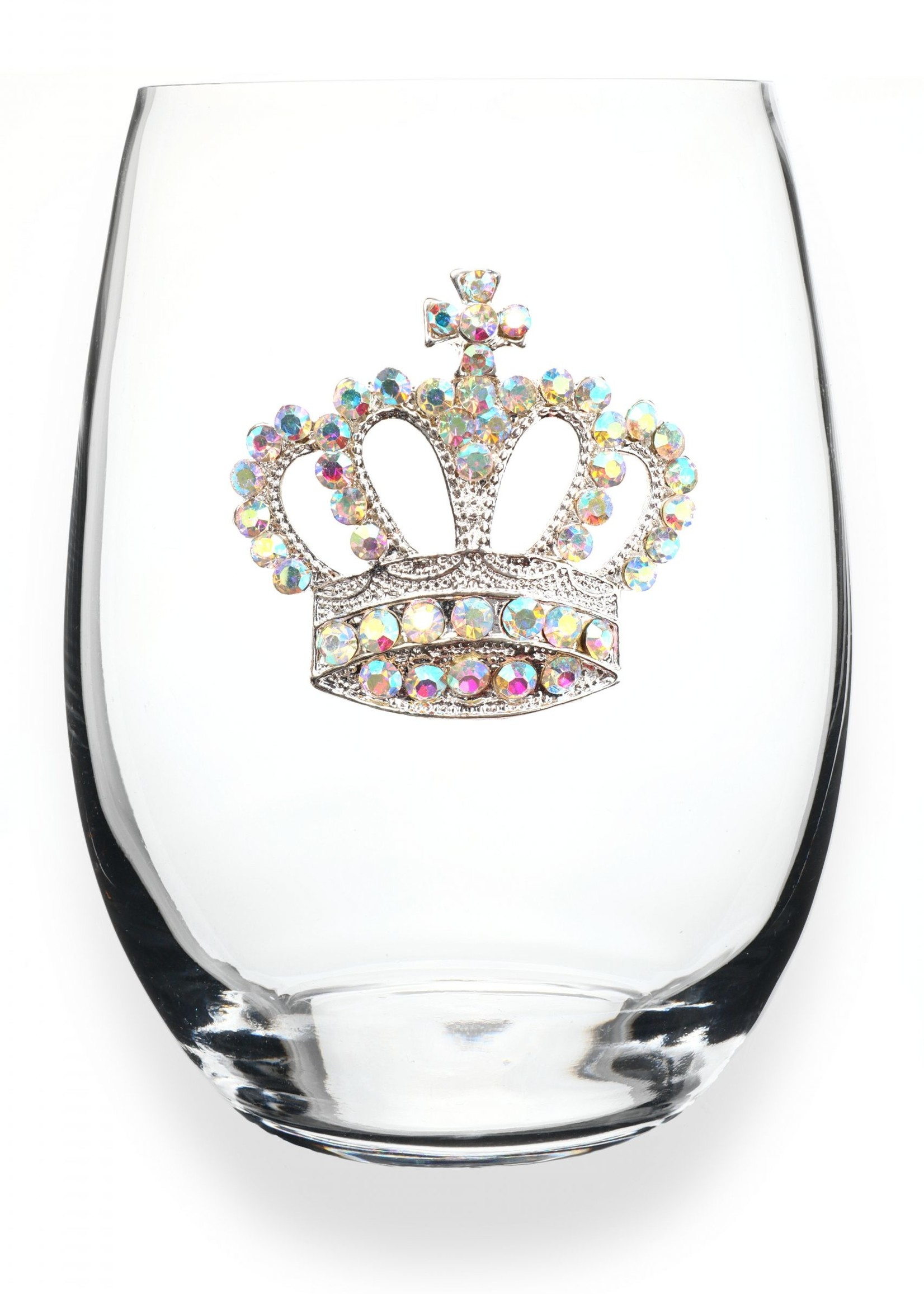 The Queen's Jewels Aurora Boreal Crown Stemless Wine Glass