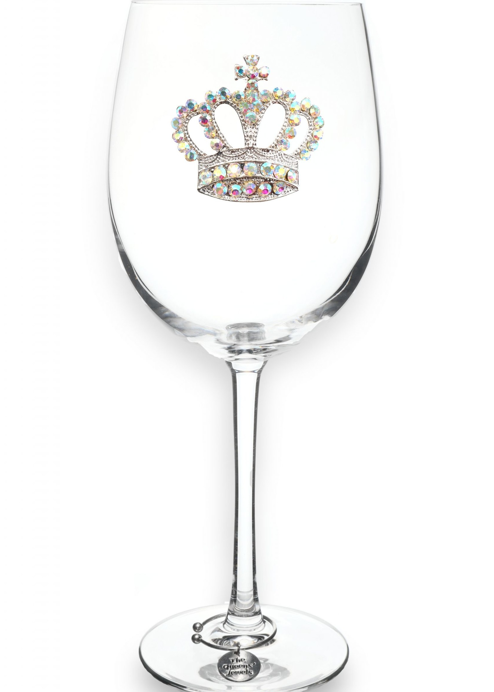 The Queen's Jewels Aurora Boreal Crown Stemmed Wine Glass