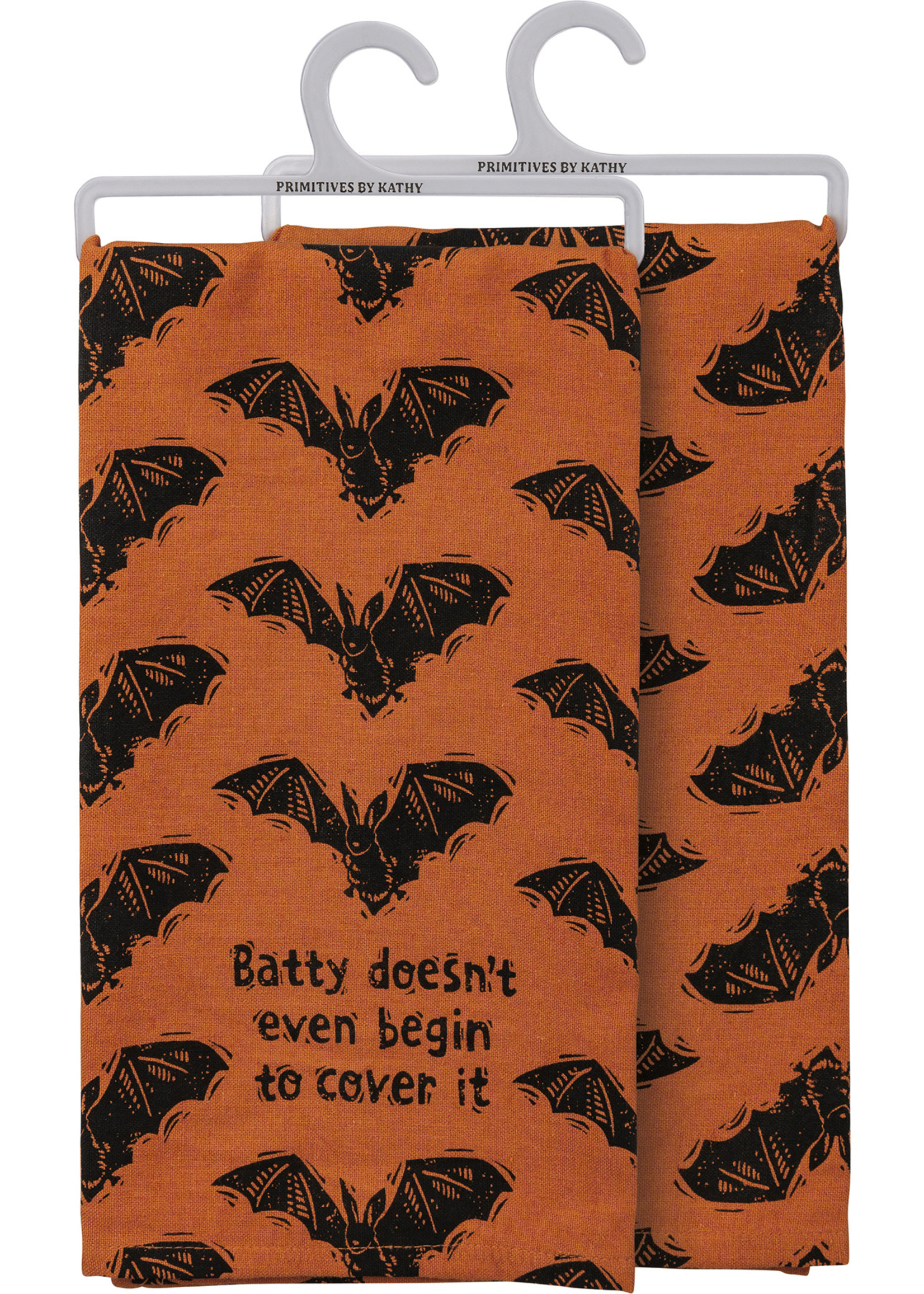 Primitives By Kathy Dish Towel - Batty Doesn't Even Begin To Cover It
