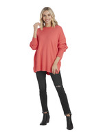 Mudpie Pink Astrid Ribbed Sweater