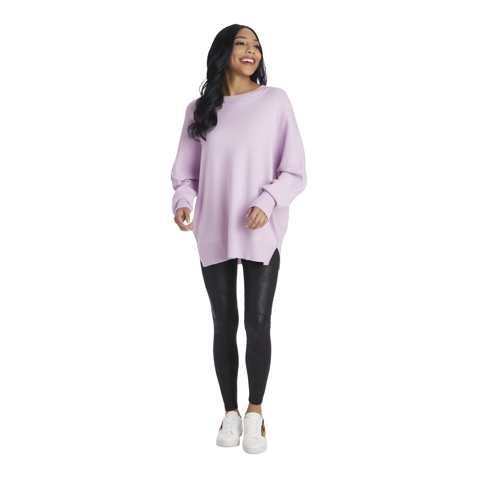 Mudpie Lilac Astrid Ribbed Sweater