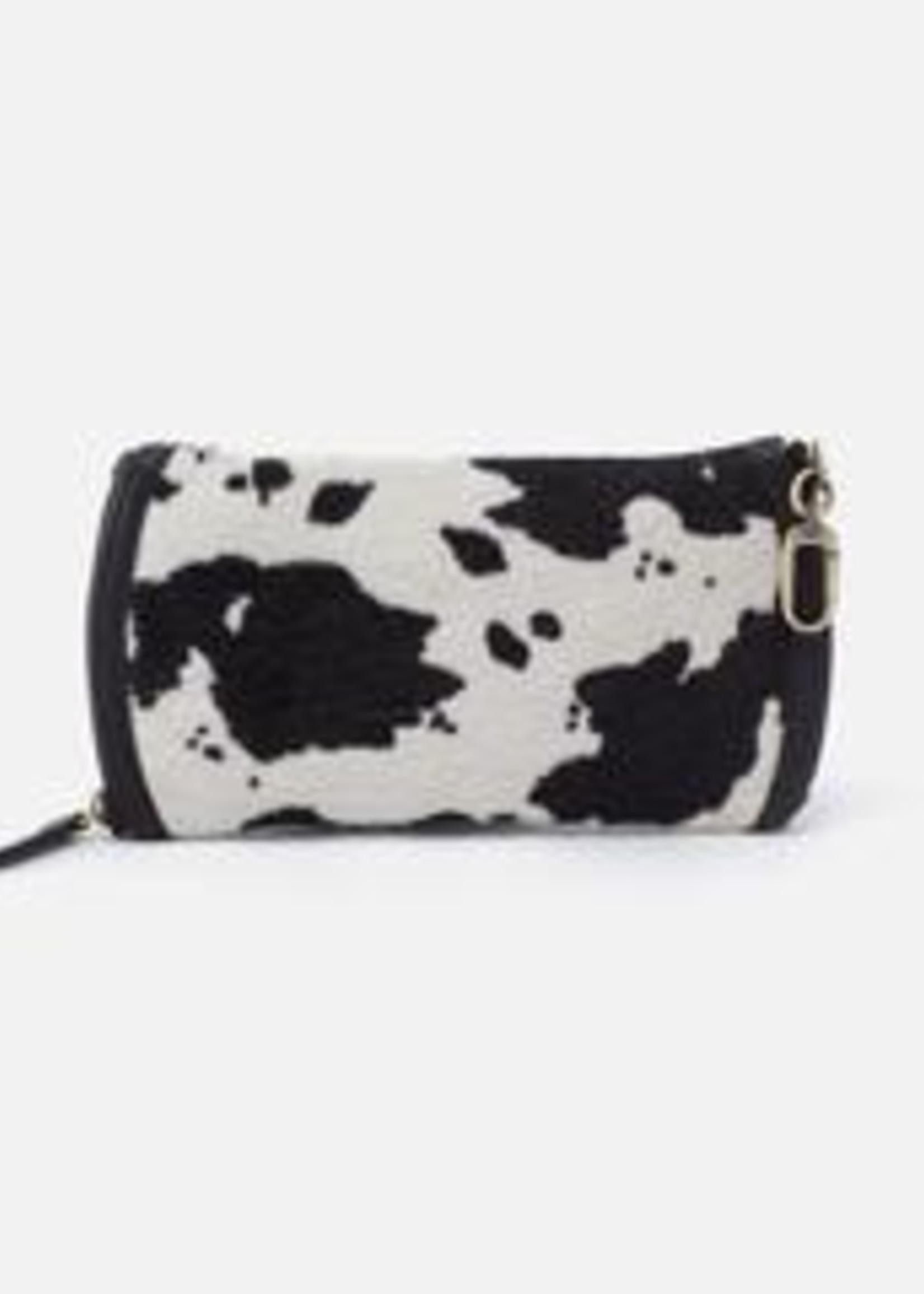 HOBO Bags Spark Go Double Eyeglass Case Cow Print