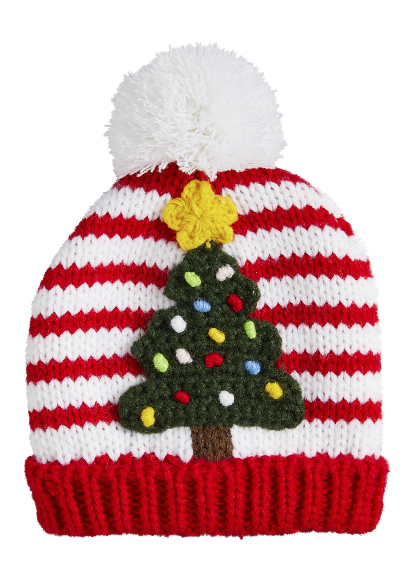 Mudpie CHRISTMAS TREE KNIT HAT