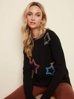CharlieB Black Crew Neck Star Sweater