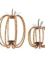 Mudpie Beaded Pumpkin Lantern Set (2)