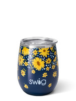Swig Lazy Daisy Stemless Cup 14oz