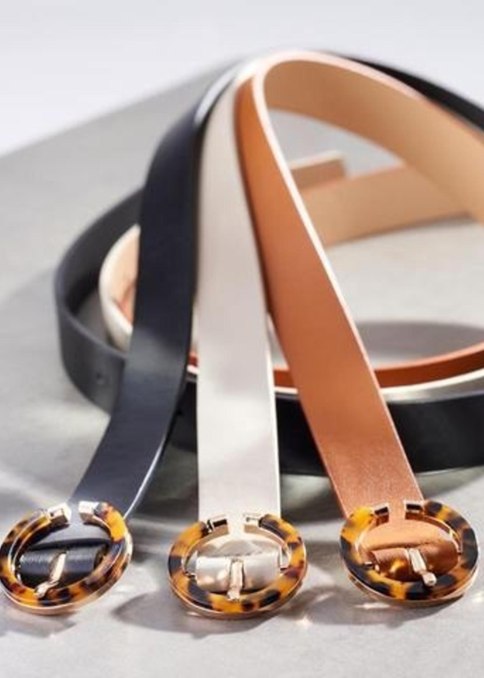 Gift Craft Leopard Buckle Vegan Leather Classic Belt