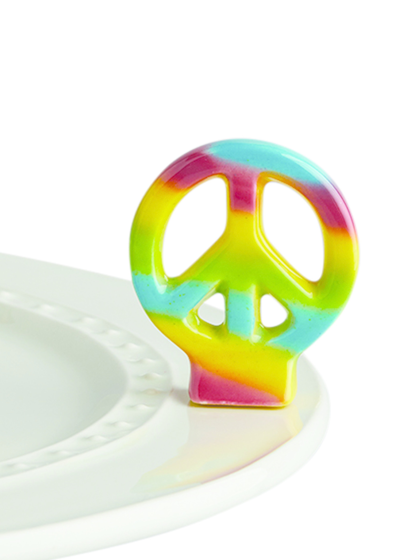 Nora Fleming Serveware PEACE OUT