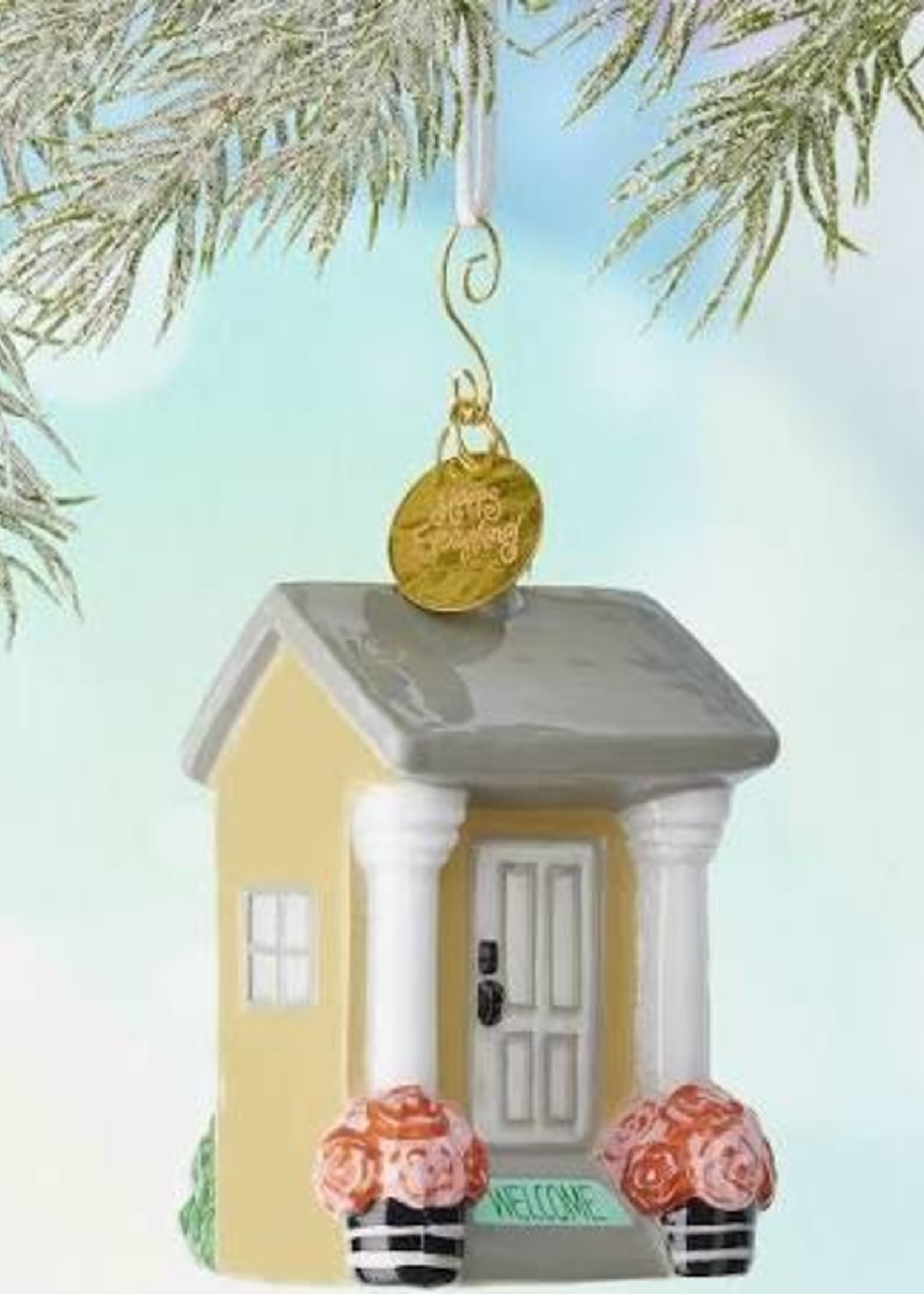 Coton Colors House Welcome Shaped Ornament