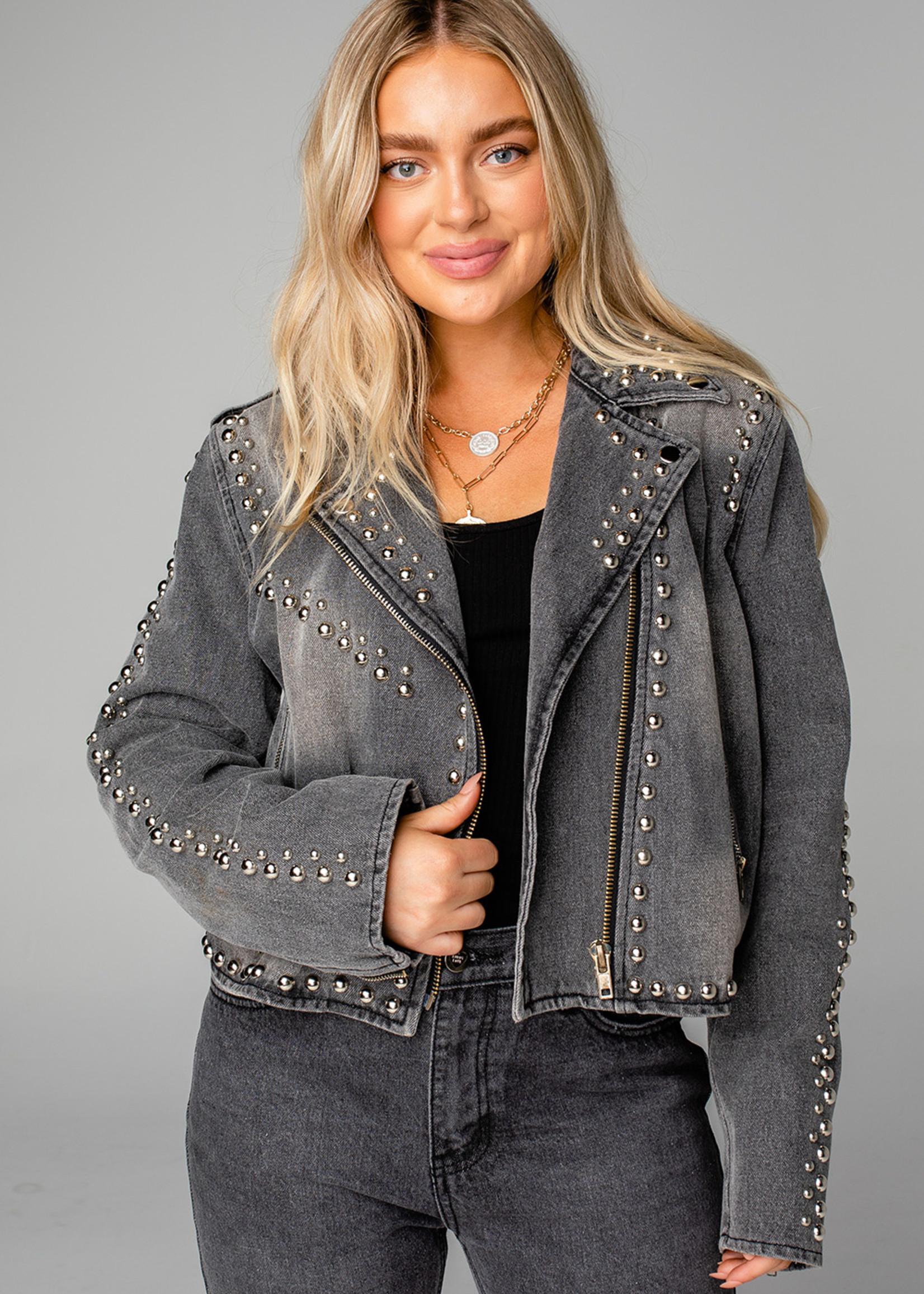 Buddy Love Bianca Studded Denim Jacket