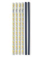 Swig Lazy Daisy & Navy Reusable Straw Set Tall