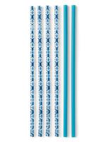 Swig Indigo Isle & Navy Reusable Straw Set Tall