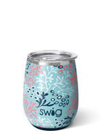 Swig CORAL ME CRAZY SWIG 140Z STEMLESS WINE CUP
