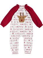 Mudpie Reindeer Girl Crochet One Piece