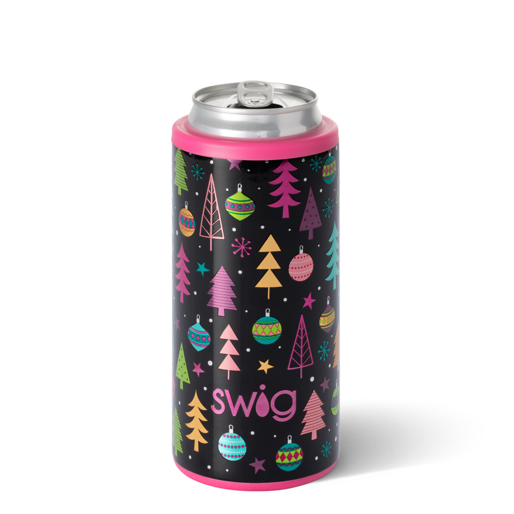 Swig Merry & Bright Skinny Can Cooler 12 oz