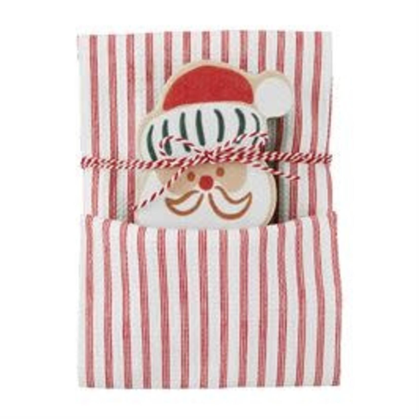 Mudpie CHRISTMAS TOWEL AND SPONGE SET