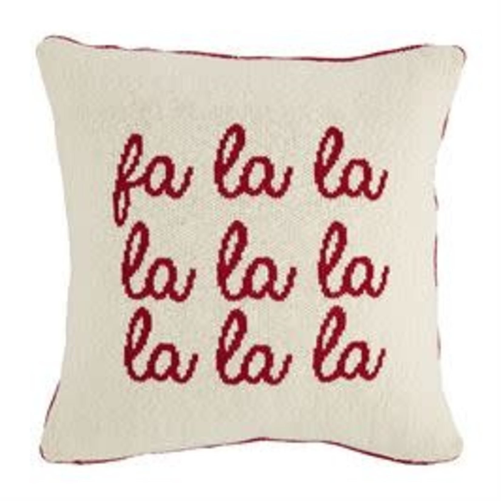 Mudpie REVERSIBLE WOVEN KNIT CHRISTMAS PILLOWS