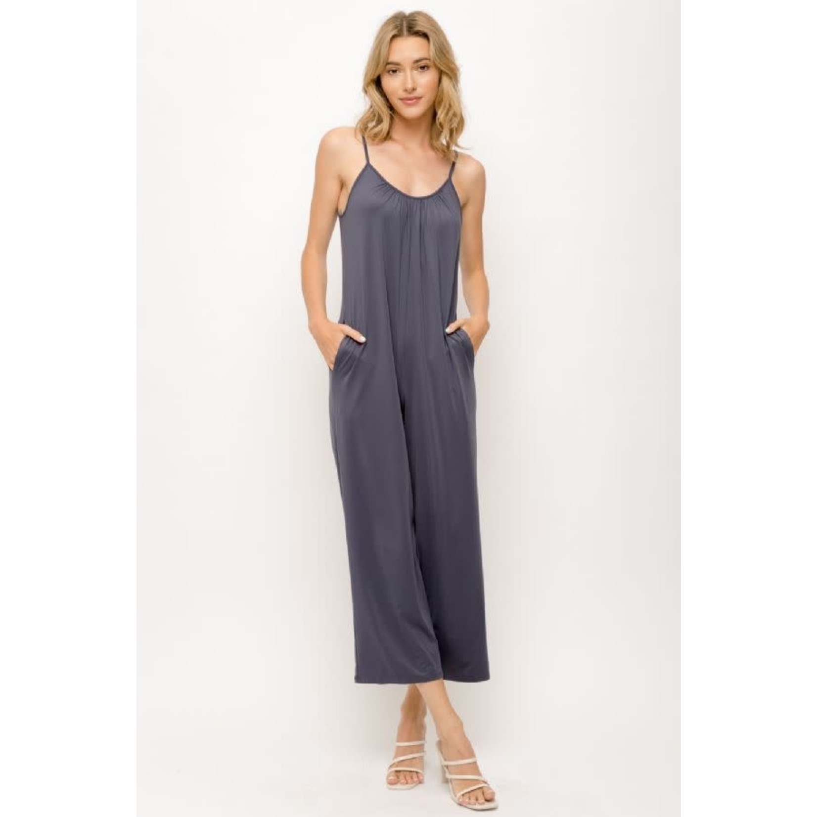 Mystree SOFT JERSEY JUMPSUIT WITH ADJUSTABLE STRAPS