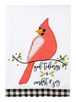 Glory Haus GOOD TIDINGS RED BIRD TEA TOWEL
