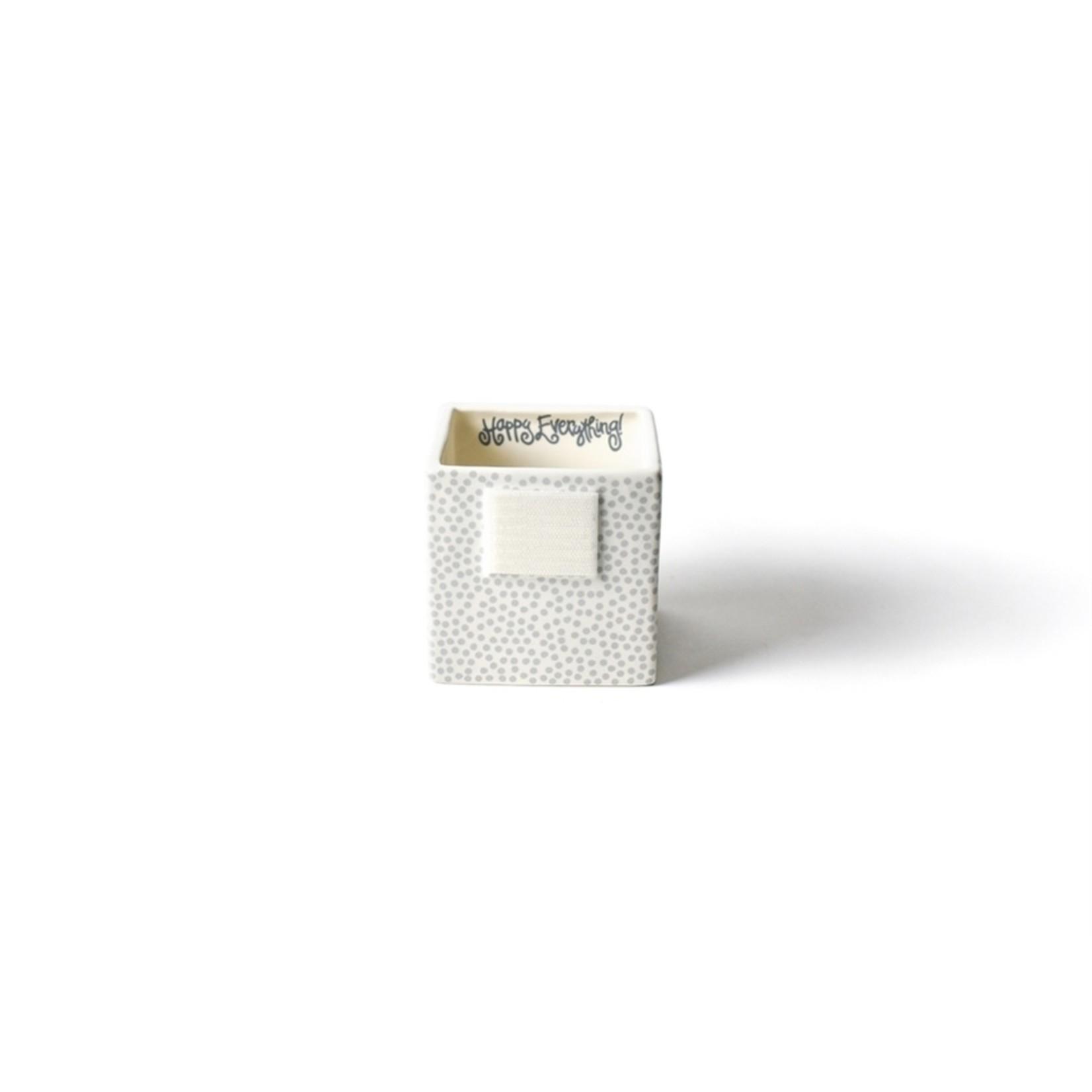 Happy Everything Stone Small Dot Mini Nesting Cube Small