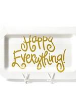 Happy Everything White Stripe Happy Everything Mini Rectangle Platter