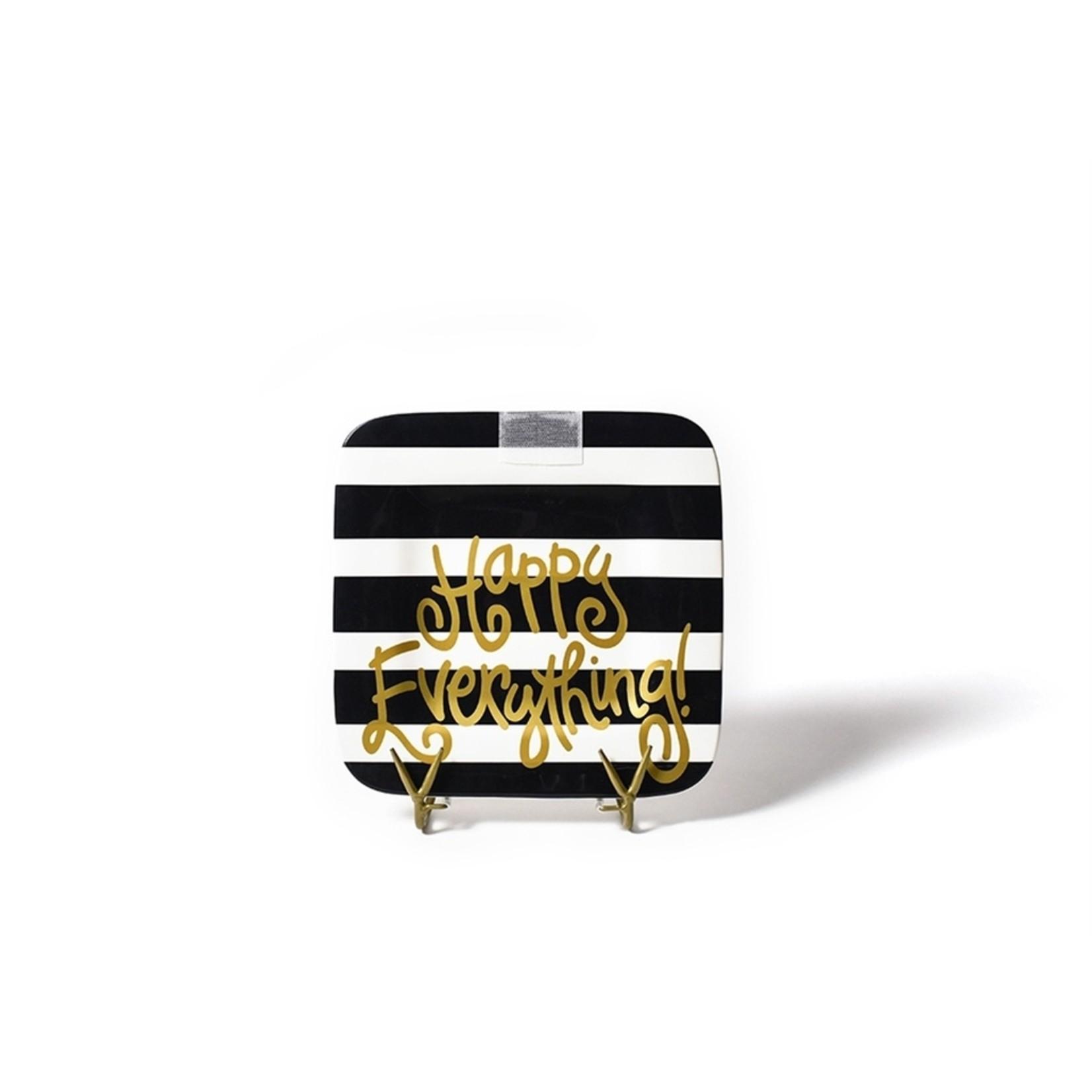 Happy Everything Black Stripe Happy Everything 9.25 Mini Platter