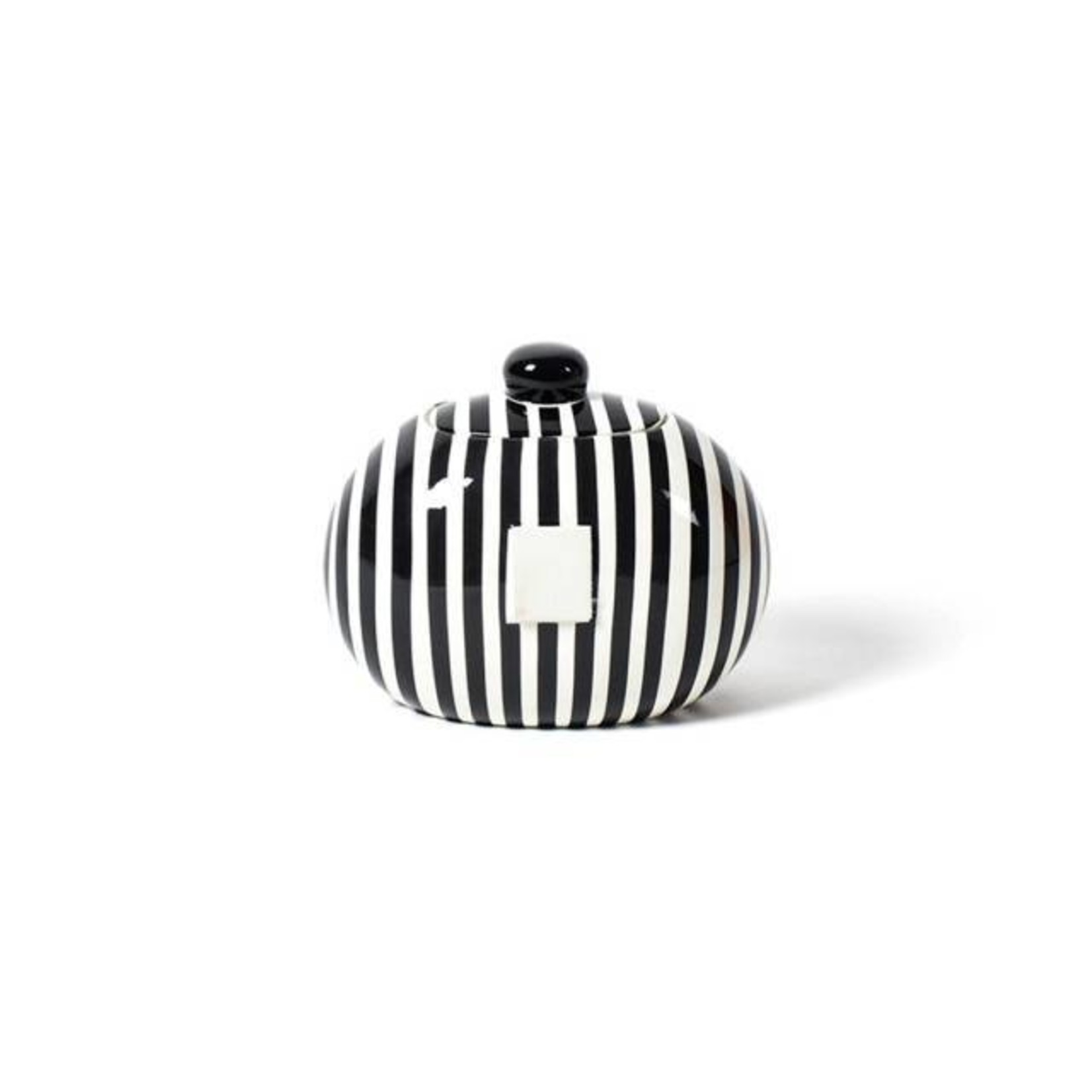 Happy Everything Black Stripe Happy Everything Mini Cookie Jar