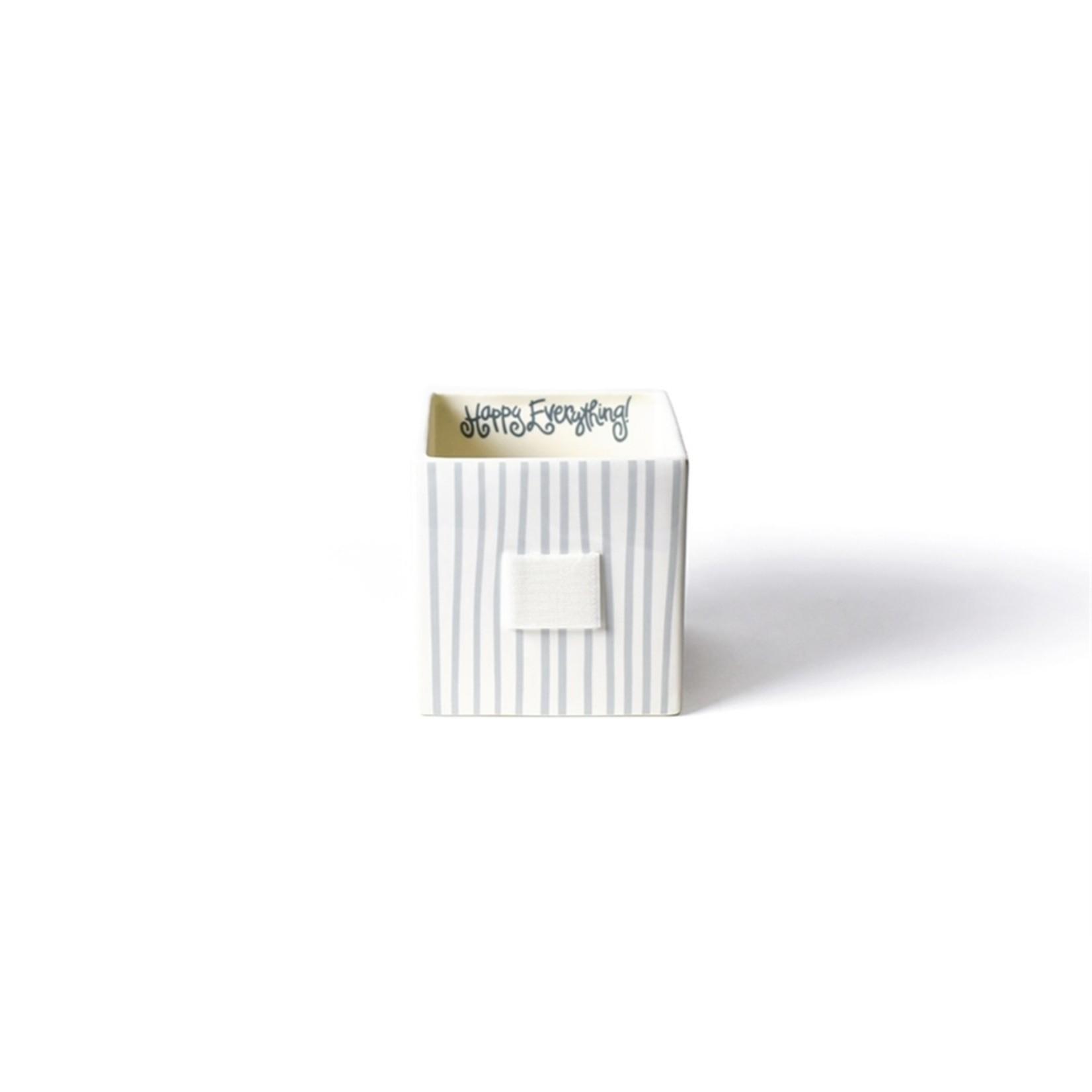 Happy Everything Stone Stripe Mini Nesting Cube Medium